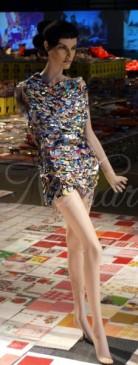 jurk van buttons