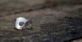 zilveren ring met oneindigheids symbool