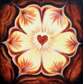 abstract liefde bloemen schilderij