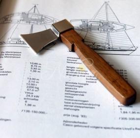 ship launching commemorative axe