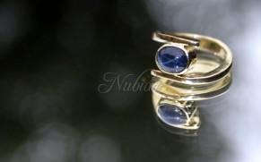 ring met ster saffier goudsmid tiel