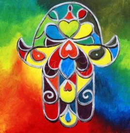 hamsa painting schilderij