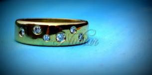 ring van goud met diamanten laten maken