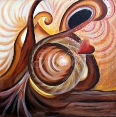 schilderij abstract liefde