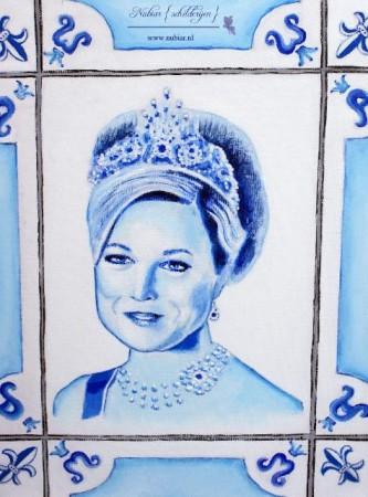 Prinses Maxima delfts blauw