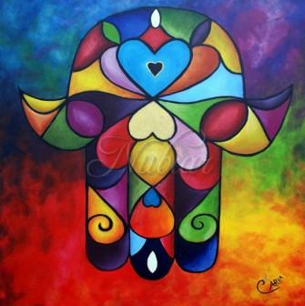 hand van fatima schilderij nubiar tiel