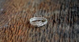 ring van zilverdraad