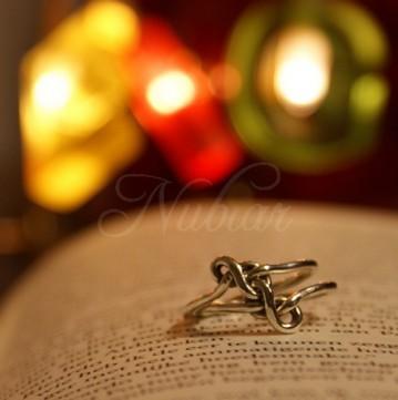 geknoopte ring zilver liefde