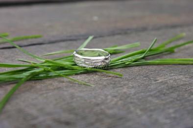 gras ring zilver