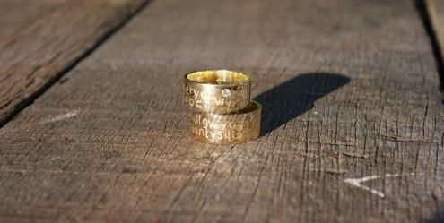 ring met tekst laten maken