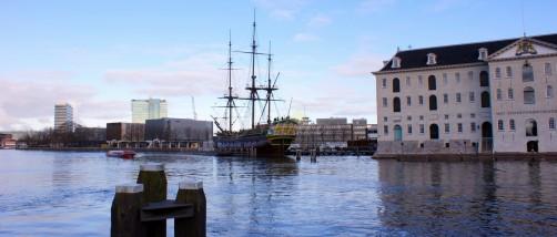 skyline scheepvaartmuseum voc amsterdam