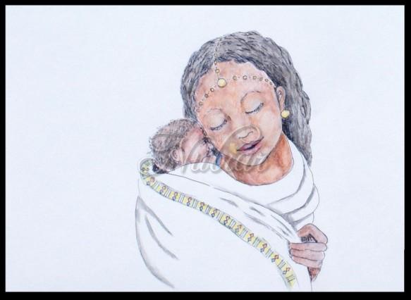 tekening geboortekaartje