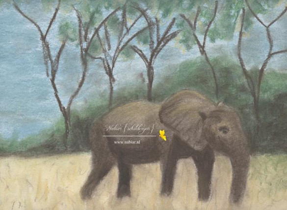 krijttekening olifant