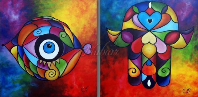 schilderij hand van fatima nazar