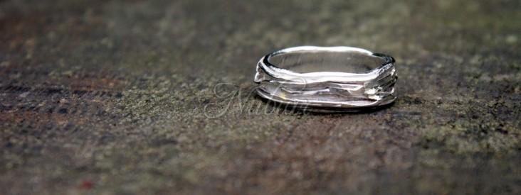 verlovingsring zilver gras