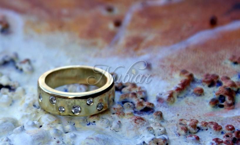 sterrenhemel gouden ring diamantjes