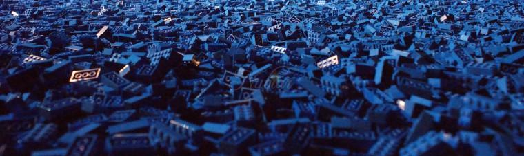 blauwe lego verzameling
