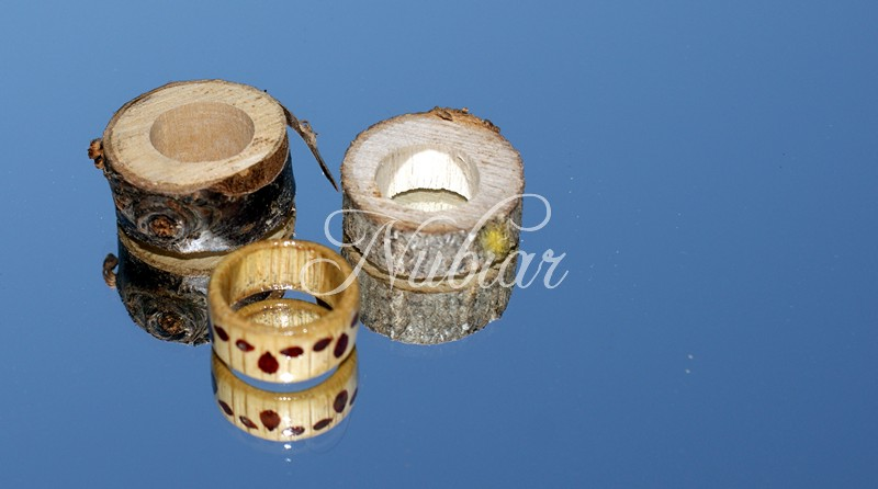 Wedding rings made of wood